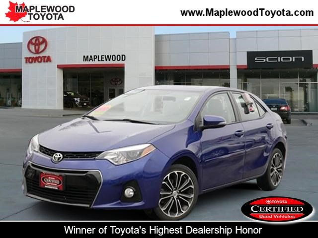 Toyota Corolla S Plus >> Certified Pre Owned 2016 Toyota Corolla S Plus 4dr Car In Maplewood